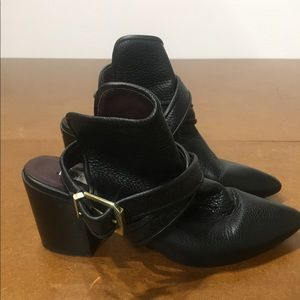 Steve Madden Heeled Out booties w/ankle straps